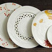 """Посуда ручной работы. Ярмарка Мастеров - ручная работа Настенные тарелки """"Прозрачная осень.. Handmade."""