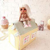 """Кукольные домики ручной работы. Ярмарка Мастеров - ручная работа Кукольные домики: Домик-сумочка """"Желто-мятный"""". Handmade."""