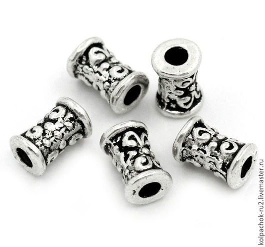 Для украшений ручной работы. Ярмарка Мастеров - ручная работа. Купить Разделитель для бусин, размер 7мм, цвет серебро. Handmade.
