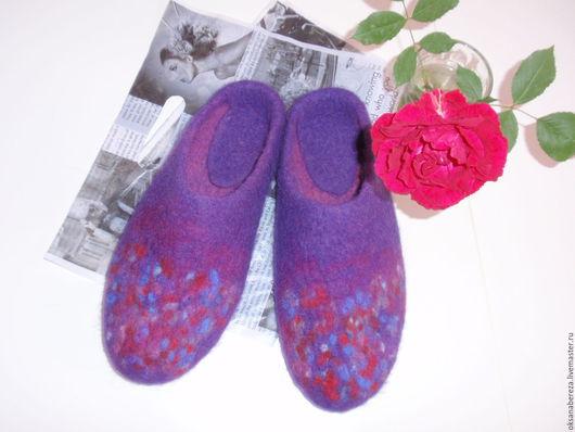 Обувь ручной работы. Ярмарка Мастеров - ручная работа. Купить Тапочки. Handmade. Комбинированный, Тапочки ручной работы
