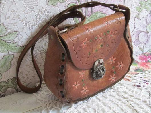 Винтажные сумки и кошельки. Ярмарка Мастеров - ручная работа. Купить Винтажная сумочка из натуральной кожи.. Handmade. Рыжий, винтажный стиль