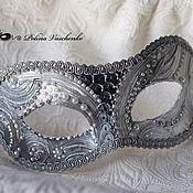 """Одежда ручной работы. Ярмарка Мастеров - ручная работа Карнавальная маска """"В серебре"""". Handmade."""