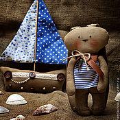 Куклы и игрушки ручной работы. Ярмарка Мастеров - ручная работа Зайчик-морячок. Handmade.
