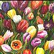 """Картины цветов ручной работы. Ярмарка Мастеров - ручная работа. Купить Картина акрилом  """"Очарование весны"""". Handmade. Комбинированный, интерьер"""