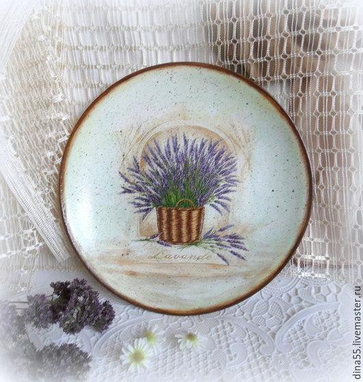 Картины цветов ручной работы. Ярмарка Мастеров - ручная работа. Купить Декоративные тарелки в стиле прованс. Handmade. Салатовый