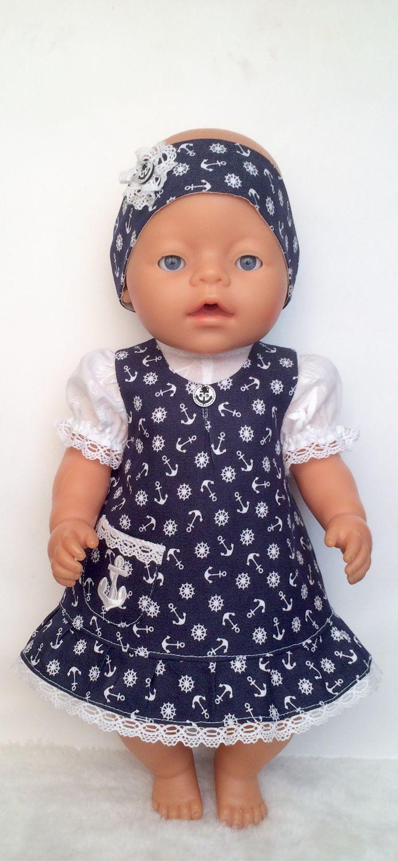 Одежда для кукол ручной работы. Ярмарка Мастеров - ручная работа. Купить Сарафан джинсовый с блузкой для беби бон. Handmade.