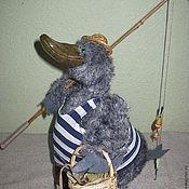 Куклы и игрушки ручной работы. Ярмарка Мастеров - ручная работа Утка из мохера. Handmade.
