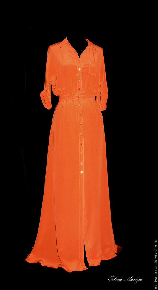 Платья ручной работы. Ярмарка Мастеров - ручная работа. Купить Платье. Handmade. Рыжий, кирпичный цвет, платье, платье летнее