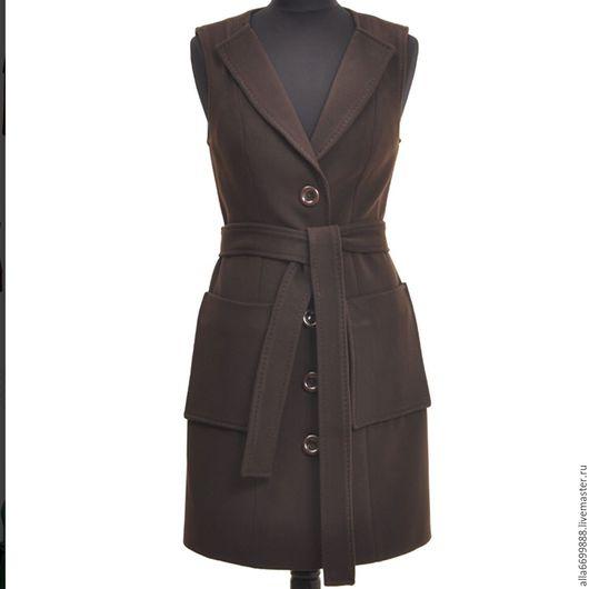 Верхняя одежда ручной работы. Ярмарка Мастеров - ручная работа. Купить Пальто-жилет. Handmade. Пальто, стильное пальто