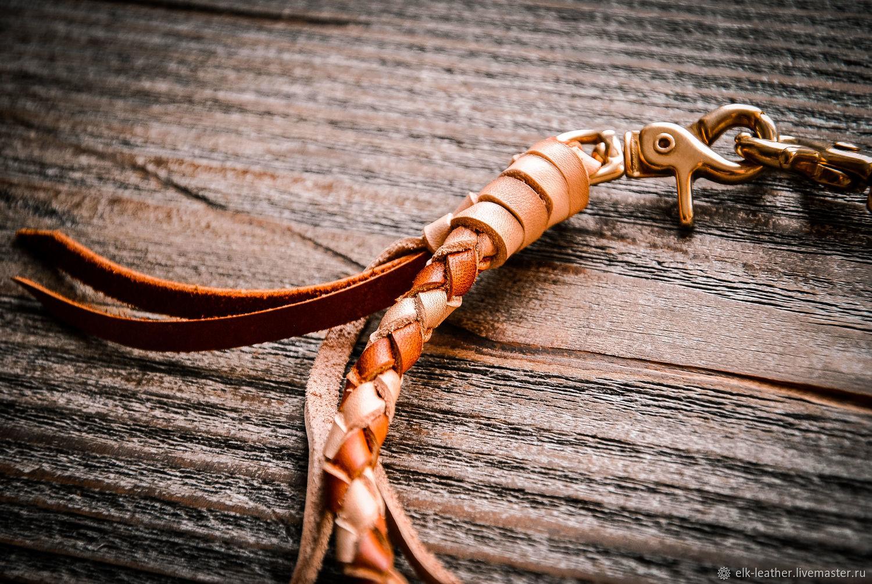 Плетёный шнур для бумажника или ключей. Корд