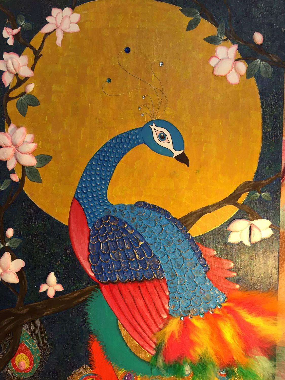 Жар-птица своими руками из природных материалов 18