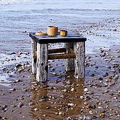 """Для дома и интерьера ручной работы. Ярмарка Мастеров - ручная работа Столик чайный """"морская пена"""" сосна, обжиг. Handmade."""