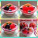 Мыло ручной работы. Набор мыла Пирожные фруктово-ягодные в клубничной глазури. Надежда  SweetsSoap. Интернет-магазин Ярмарка Мастеров.