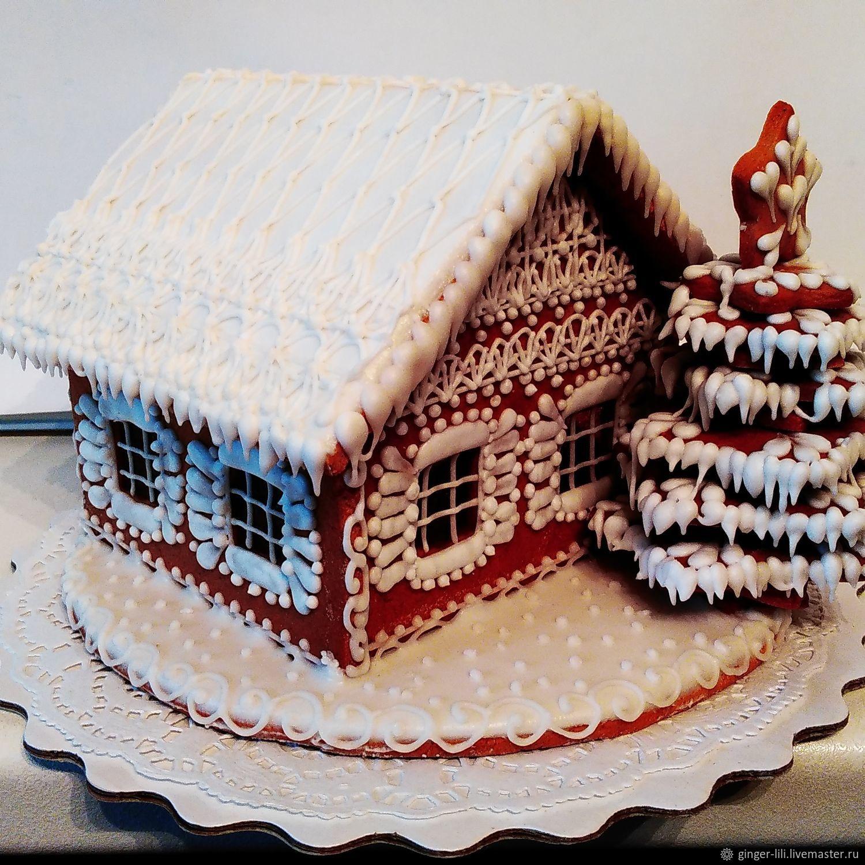Картинки пряничные домики зимние, цветы открытка