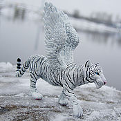 Куклы и игрушки handmade. Livemaster - original item the figure of the winged white tigress. Handmade.