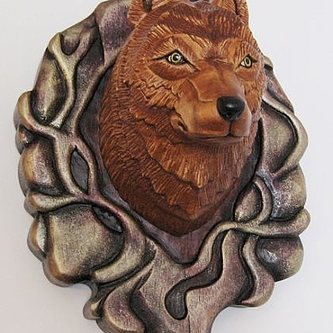 Для дома и интерьера ручной работы. Ярмарка Мастеров - ручная работа «Волк Акелла» - медальон на стену. Handmade.