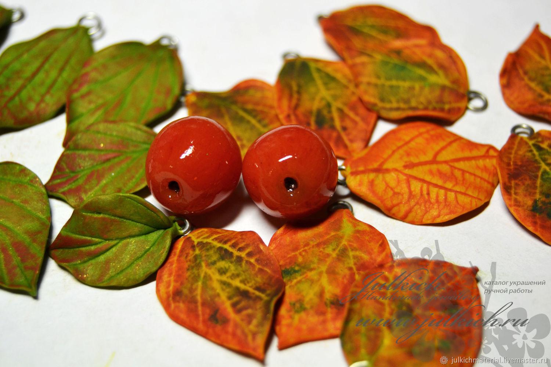 "Set of beads ""Leaves"", Beads1, Krasnodar,  Фото №1"