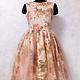 """Платья ручной работы. Ярмарка Мастеров - ручная работа. Купить Вечернее платье """"Осень"""". Handmade. Розовый, платье коктейльное"""