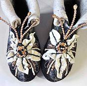 Обувь ручной работы handmade. Livemaster - original item Home Slippers