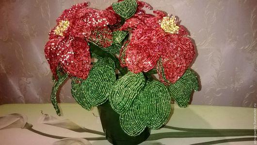 Цветы ручной работы. Ярмарка Мастеров - ручная работа. Купить Цветок из бисера. Handmade. Комбинированный, цветок ручной работы, бисер