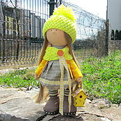 Куклы и игрушки ручной работы. Ярмарка Мастеров - ручная работа Кукла интерьерная. Интерьерная кукла. Девочка со скворечником. Handmade.