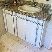 Для дома и интерьера ручной работы. Ярмарка Мастеров - ручная работа Вторая жизнь шкафчика в ванной. Handmade.