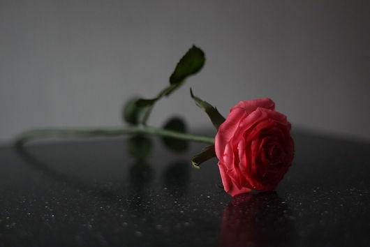 Цветы ручной работы. Ярмарка Мастеров - ручная работа. Купить Роза из полимерной глины. Handmade. Роза, цветок, полимерная глина