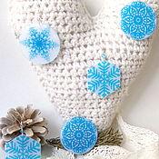 Украшения handmade. Livemaster - original item Translucent earrings made of Blue Resin snowflake Winter fairy. Handmade.