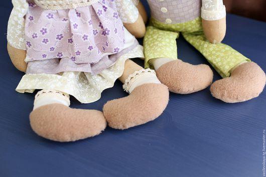 """Ароматизированные куклы ручной работы. Ярмарка Мастеров - ручная работа. Купить """"Влюбленные зайки"""" -Ароматизированная авторская игрушка. Handmade. Коричневый"""