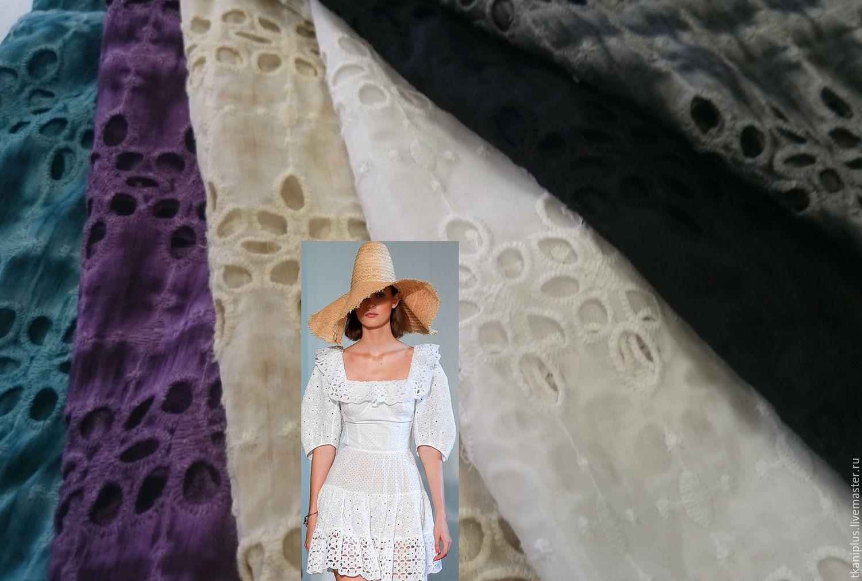 Шелковый батист с вышивкой 76