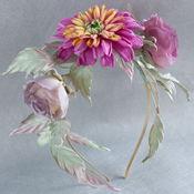 Украшения handmade. Livemaster - original item Rim flower hair silk