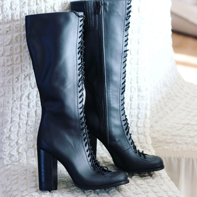 Обувь ручной работы. Ярмарка Мастеров - ручная работа. Купить Сапоги ручной работы и. Handmade. Сапоги женские, замша