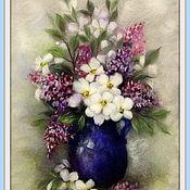 Картины и панно ручной работы. Ярмарка Мастеров - ручная работа Весеннее цветение Картина из шерсти. Handmade.