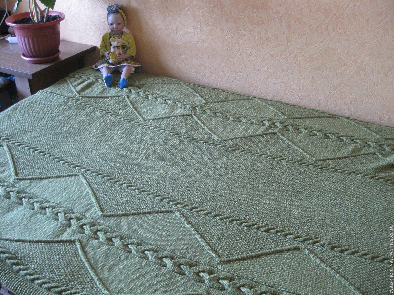 Плед вязаный (покрывало, одеяло) Зигзаг – купить в ...