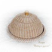 Для дома и интерьера ручной работы. Ярмарка Мастеров - ручная работа Хлебница плетеная Деревенька моя. Handmade.