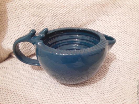 Ванная комната ручной работы. Ярмарка Мастеров - ручная работа. Купить Скаттл (чаша для бритья) - 2 синезеленый с держателем для помазка. Handmade.