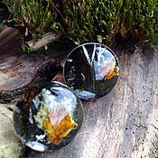 Украшения handmade. Livemaster - original item Cufflinks !The colors of the forest!. Handmade.