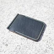 Сумки и аксессуары handmade. Livemaster - original item Wallet money clip (Horween leather ) Teal shadow. Handmade.