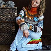 Одежда ручной работы. Ярмарка Мастеров - ручная работа Женский вязаный свитер Иней. Handmade.