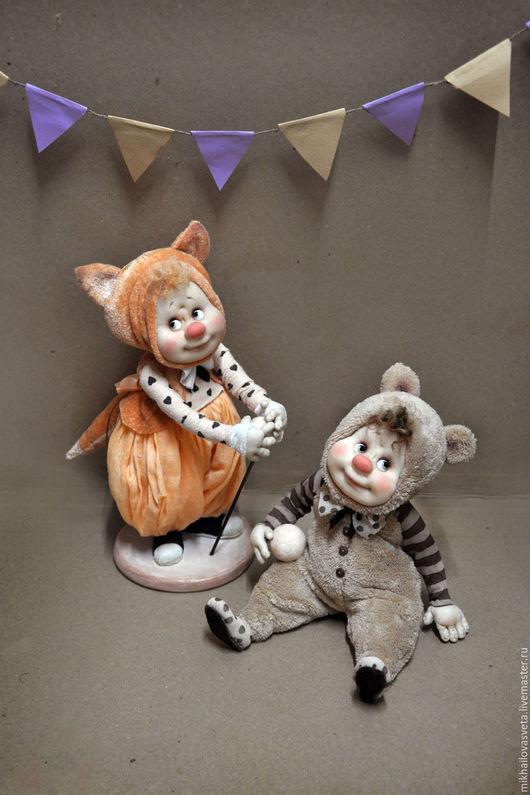 Коллекционные куклы ручной работы. Ярмарка Мастеров - ручная работа. Купить Мишаня,Алиса,Сема. Handmade. Комбинированный, тедди