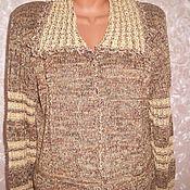 Одежда ручной работы. Ярмарка Мастеров - ручная работа Жакет из льняной пряжи. Handmade.