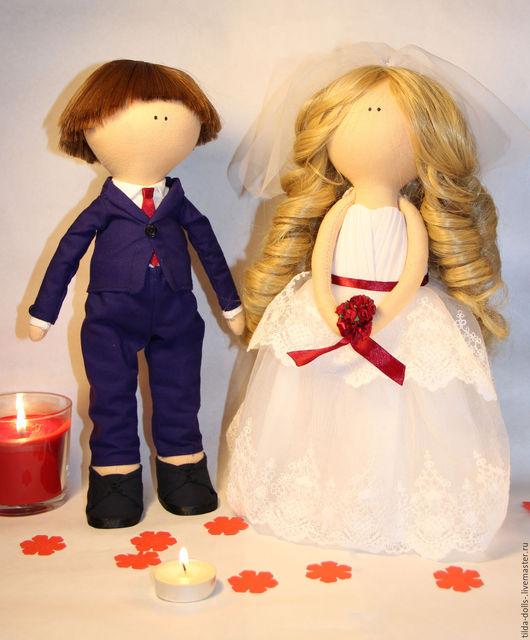 Подарки на свадьбу ручной работы. Ярмарка Мастеров - ручная работа. Купить Свадебная пара игрушки. Handmade. Белый, волосы искусственные
