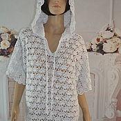 Одежда handmade. Livemaster - original item Openwork tunic, cotton, ,46-50p.. Handmade.