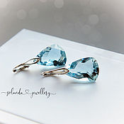Украшения handmade. Livemaster - original item Earrings with blue Topaz in silver 925. Handmade.