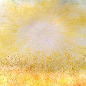 """Картины и панно ручной работы. Ярмарка Мастеров - ручная работа """"Летний зной"""" акварельная работа. Handmade."""