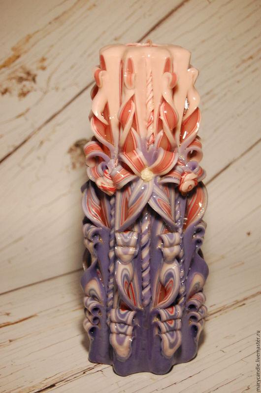 Свечи ручной работы. Ярмарка Мастеров - ручная работа. Купить Резная свеча ручной работы. Handmade. Разноцветный