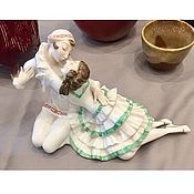 Винтаж handmade. Livemaster - original item Antique Statuette couple Pierrot and pierrette Germany Hutchenreuther. Handmade.