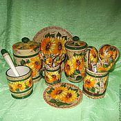 Посуда handmade. Livemaster - original item Cookware set Sunflowers. Handmade.