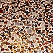 """Для дома и интерьера ручной работы. Ярмарка Мастеров - ручная работа Стол """"Сиреневый круг"""" мозаика. Handmade."""