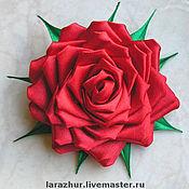 """Украшения ручной работы. Ярмарка Мастеров - ручная работа """"Роза"""" украшение из атласных лент. Handmade."""